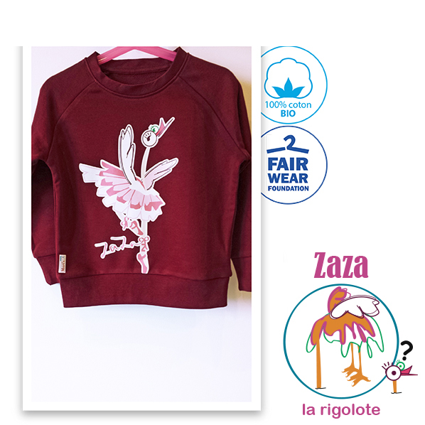 Sweat bordeaux fille