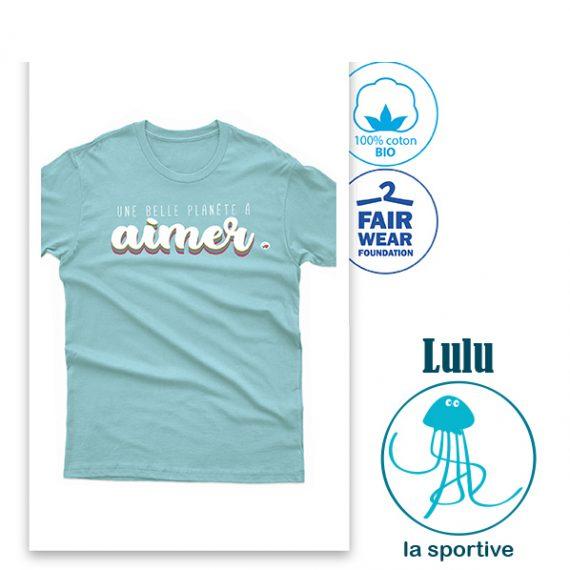 Tee-shirt enfant bleu
