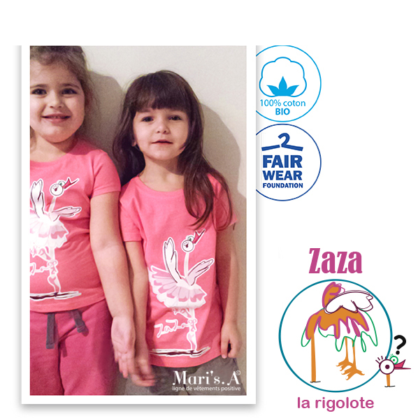 Tee Shirt rose fille Zaza