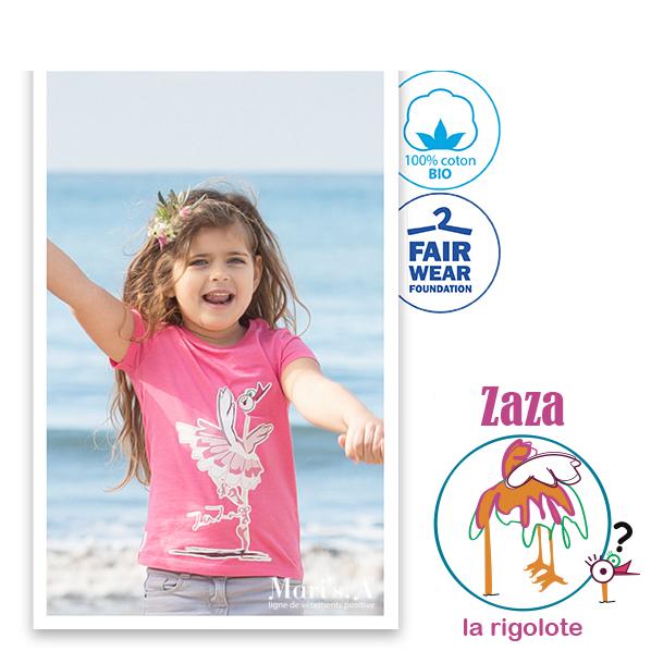 Tee Shirt rose Zaza